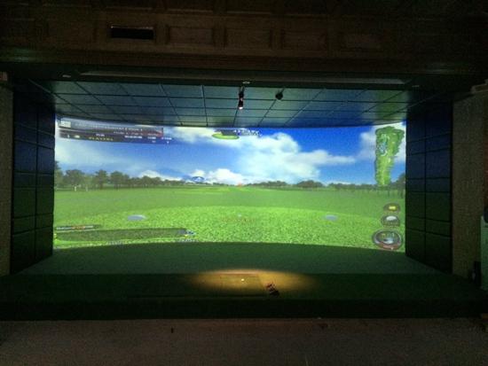 哈尔滨单屏模拟高尔夫展厅